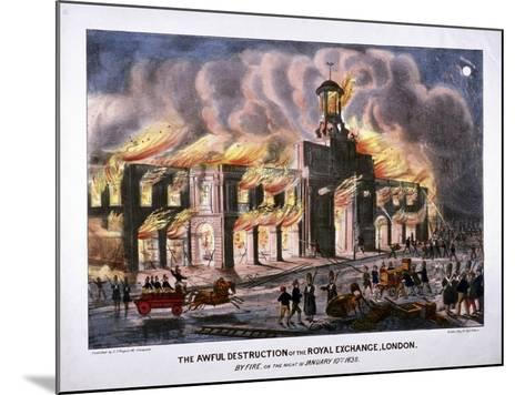 Royal Exchange (2N) Fire, London, 1838-W Clerk-Mounted Giclee Print