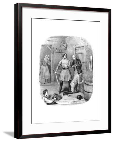 Smugglers Alarmed, 18th Century-W Clerk-Framed Art Print