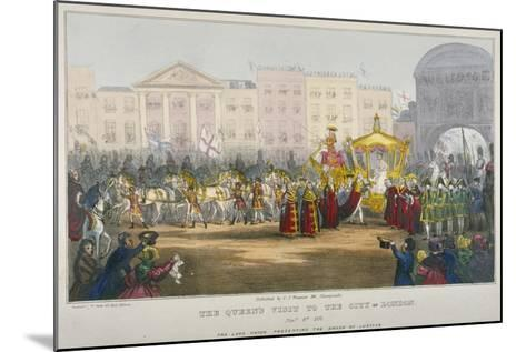 View of Temple Bar During Queen Victoria's Visit to the City of London in 1837-W Clerk-Mounted Giclee Print
