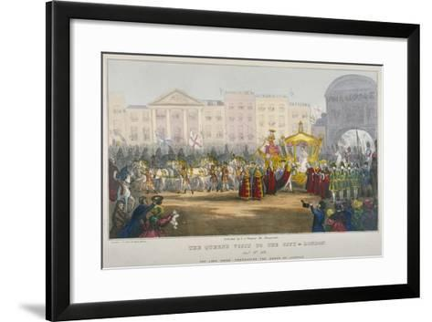 View of Temple Bar During Queen Victoria's Visit to the City of London in 1837-W Clerk-Framed Art Print