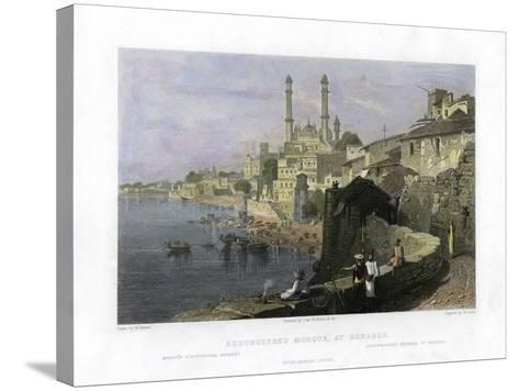 Aurangzeb's Mosque at Benares, India, 19th Century-W Cook-Stretched Canvas Print