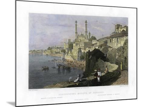 Aurangzeb's Mosque at Benares, India, 19th Century-W Cook-Mounted Giclee Print