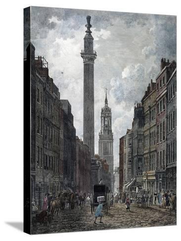 Monument, London, 1795-Thomas Malton II-Stretched Canvas Print