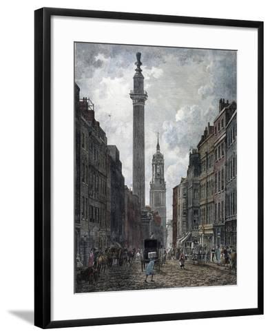 Monument, London, 1795-Thomas Malton II-Framed Art Print