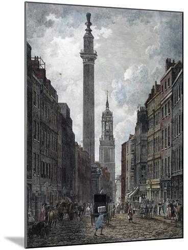 Monument, London, 1795-Thomas Malton II-Mounted Giclee Print