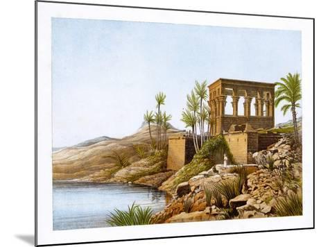 Egyptian Temple by the River Nile, Egypt, C1870-W Dickens-Mounted Giclee Print