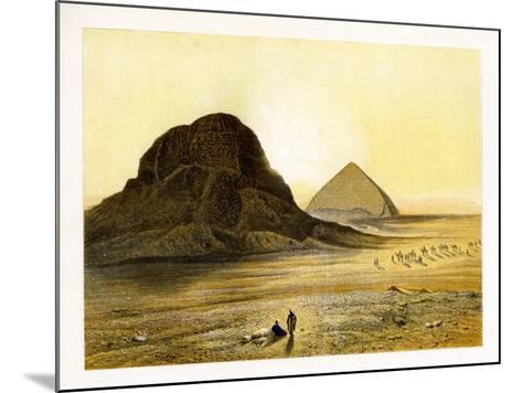 Brick Pyramids of Dashur, Egypt, C1870-W Dickens-Mounted Giclee Print