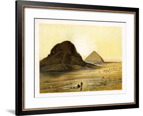 Brick Pyramids of Dashur, Egypt, C1870-W Dickens-Framed Art Print
