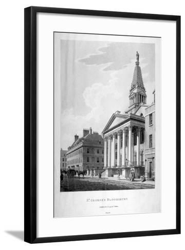 View of the Church of St George, Bloomsbury, London, 1799-Thomas Malton II-Framed Art Print