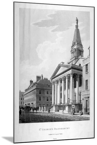 View of the Church of St George, Bloomsbury, London, 1799-Thomas Malton II-Mounted Giclee Print