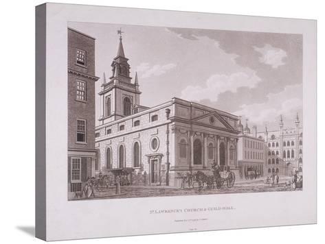 St Lawrence Jewry, London, 1798-Thomas Malton II-Stretched Canvas Print