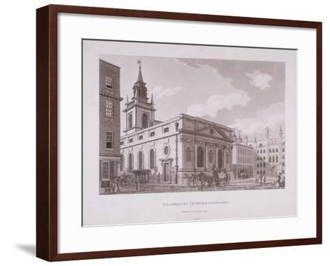 St Lawrence Jewry, London, 1798-Thomas Malton II-Framed Art Print