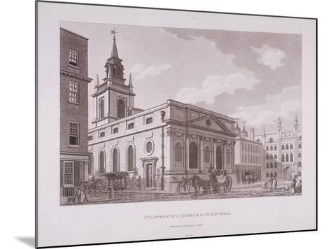 St Lawrence Jewry, London, 1798-Thomas Malton II-Mounted Giclee Print