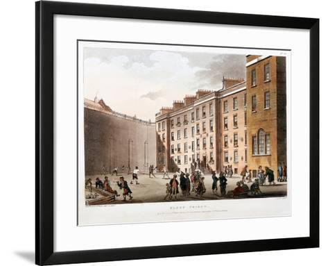 Inner Court, Fleet Prison, London, 1808-1811-Thomas Rowlandson-Framed Art Print