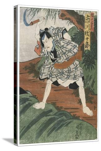 Theatre Scene, 1844-Utagawa Kunisada-Stretched Canvas Print