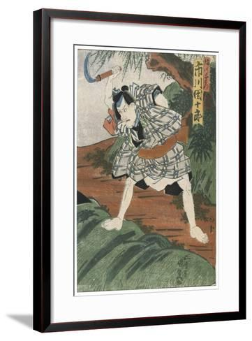 Theatre Scene, 1844-Utagawa Kunisada-Framed Art Print