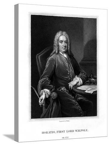 Horatio Walpole, 1st Baron Walpole of Wolterton, English Diplomat and Politician-W Holl-Stretched Canvas Print
