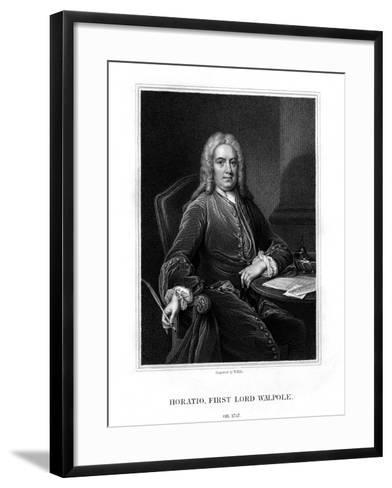 Horatio Walpole, 1st Baron Walpole of Wolterton, English Diplomat and Politician-W Holl-Framed Art Print