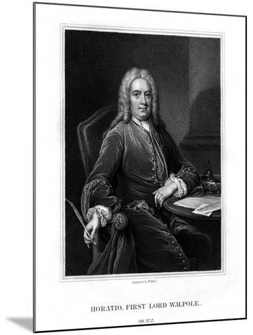 Horatio Walpole, 1st Baron Walpole of Wolterton, English Diplomat and Politician-W Holl-Mounted Giclee Print