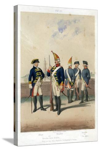 German Military Uniforms, 1740-1786-W Korn-Stretched Canvas Print