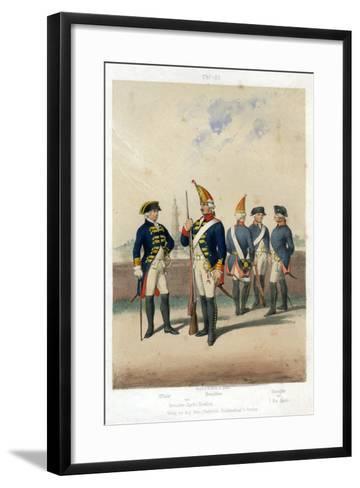 German Military Uniforms, 1740-1786-W Korn-Framed Art Print
