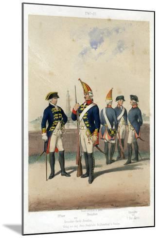 German Military Uniforms, 1740-1786-W Korn-Mounted Giclee Print