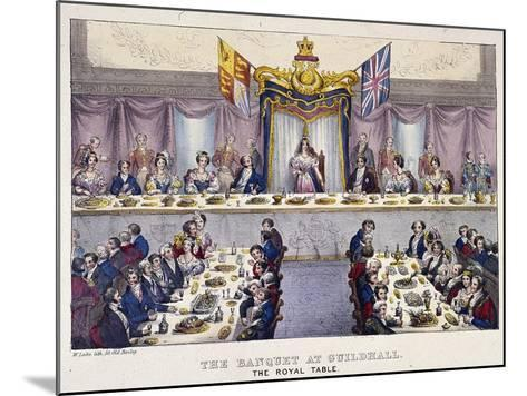Queen Victoria at the Guildhall Banquet, London, 1837-W Lake-Mounted Giclee Print