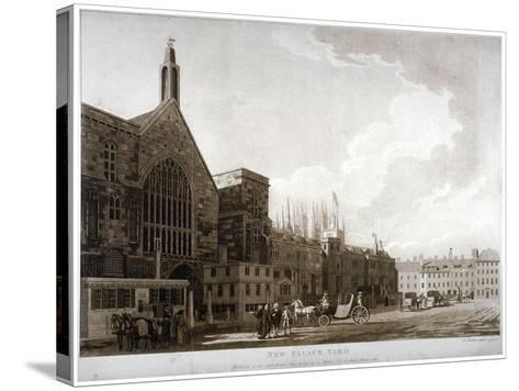New Palace Yard and the Entrance to Westminster Hall, London, 1782-Thomas Malton II-Stretched Canvas Print