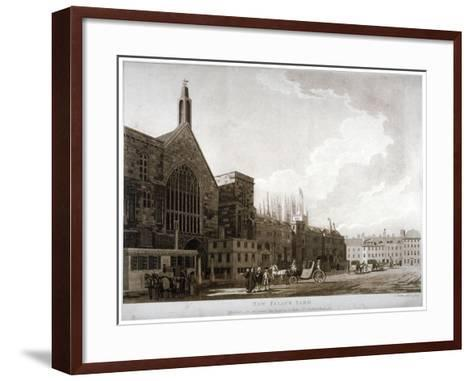 New Palace Yard and the Entrance to Westminster Hall, London, 1782-Thomas Malton II-Framed Art Print