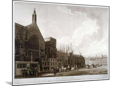 New Palace Yard and the Entrance to Westminster Hall, London, 1782-Thomas Malton II-Mounted Giclee Print