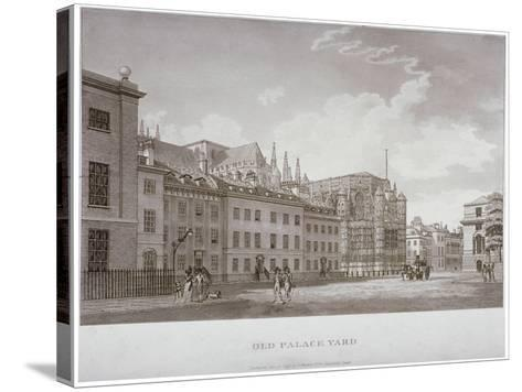 Old Palace Yard, Westminster, London, 1793-Thomas Malton II-Stretched Canvas Print