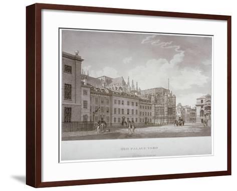 Old Palace Yard, Westminster, London, 1793-Thomas Malton II-Framed Art Print