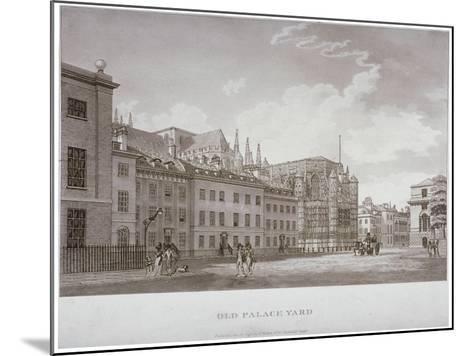 Old Palace Yard, Westminster, London, 1793-Thomas Malton II-Mounted Giclee Print