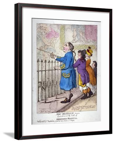 John Rosedale, Mariner, Exhibitor of the Hall of Greenwich Hospital, 1807-Thomas Rowlandson-Framed Art Print