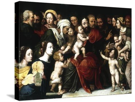 Jesus with the Little Children, C1559-1589-Vincent Sellaer-Stretched Canvas Print