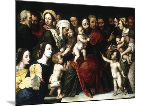 Jesus with the Little Children, C1559-1589-Vincent Sellaer-Mounted Giclee Print