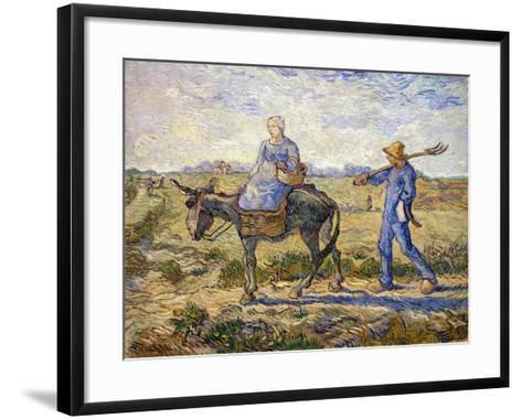Morning: Going Out to Work, 1890-Vincent van Gogh-Framed Art Print