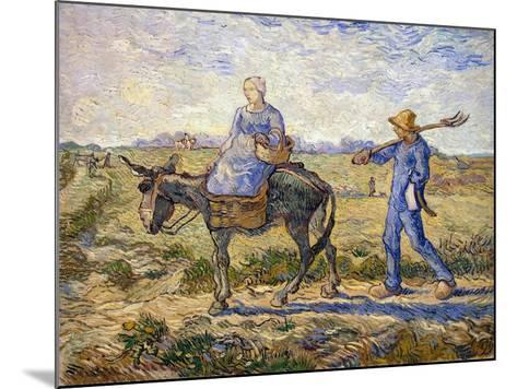 Morning: Going Out to Work, 1890-Vincent van Gogh-Mounted Giclee Print