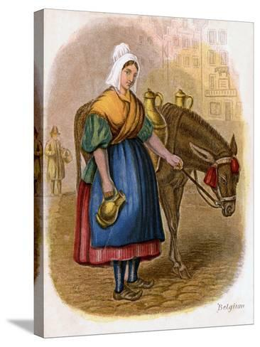 Belgian Milk-Woman, 1809-W Dickes-Stretched Canvas Print