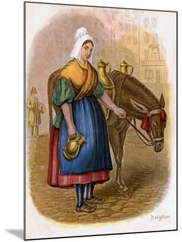 Belgian Milk-Woman, 1809-W Dickes-Mounted Giclee Print