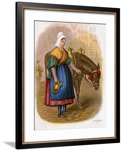 Belgian Milk-Woman, 1809-W Dickes-Framed Art Print