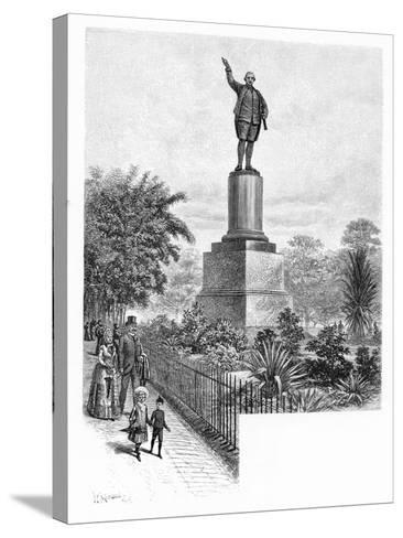 Cook's Monument, Hyde Park, Sydney, Australia, 1886-W Macleod-Stretched Canvas Print