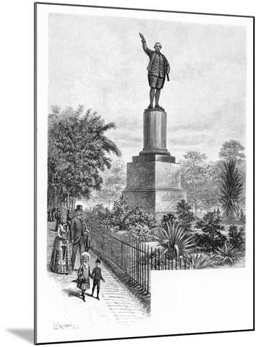 Cook's Monument, Hyde Park, Sydney, Australia, 1886-W Macleod-Mounted Giclee Print