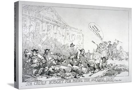 Sir Cecils Budget for Paying the National Debt, 1874-Thomas Rowlandson-Stretched Canvas Print