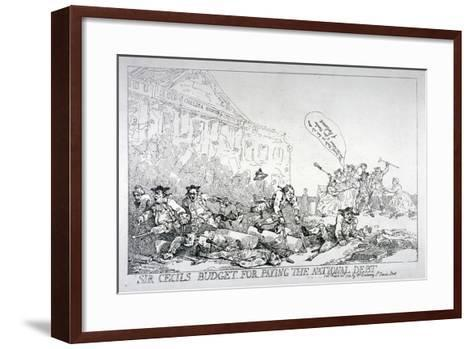 Sir Cecils Budget for Paying the National Debt, 1874-Thomas Rowlandson-Framed Art Print