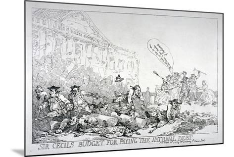 Sir Cecils Budget for Paying the National Debt, 1874-Thomas Rowlandson-Mounted Giclee Print
