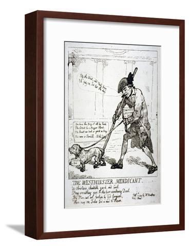 The Westminster Mendicant, 1784-Thomas Rowlandson-Framed Art Print