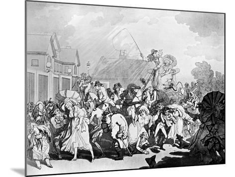 A Sudden Squall in Hyde Park, C1791-Thomas Rowlandson-Mounted Giclee Print
