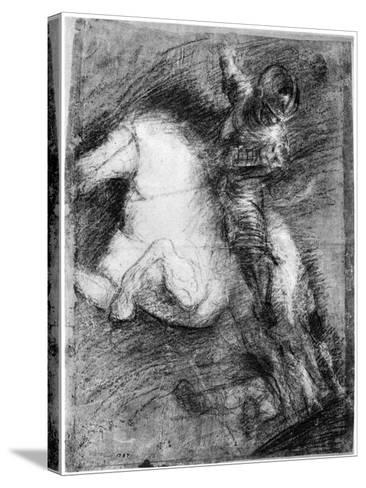 Horseman for the Battle of Cadore, C1525-Titian (Tiziano Vecelli)-Stretched Canvas Print