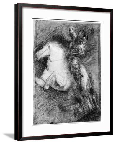 Horseman for the Battle of Cadore, C1525-Titian (Tiziano Vecelli)-Framed Art Print